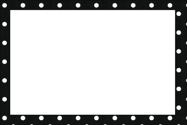 Preto E Branco Com Bolinhas Kit Completo Com Molduras Para Convites Rotulos Para Guloseimas Lembrancinhas E Imagens Fazendo A Minha Festa Convites Preto E Branco Moldura Preto E Branco