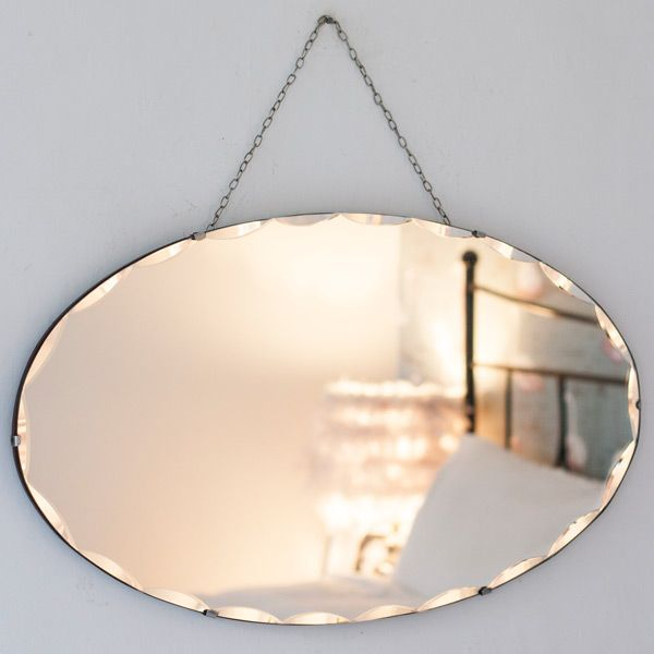 Vintage Oval Chained Mirror The Other, How To Hang Vintage Mirror On Chain