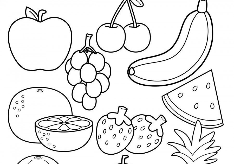 Fruit To Coloring Pages Background