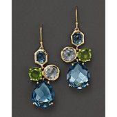IPPOLITA 18K Gold Rock Candy Gelato Earrings in Tartan Sett
