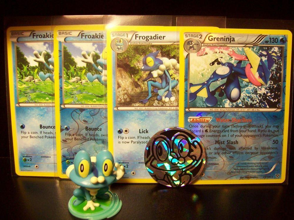 Pokemon froakie cards figure plastic flip coin nm xy