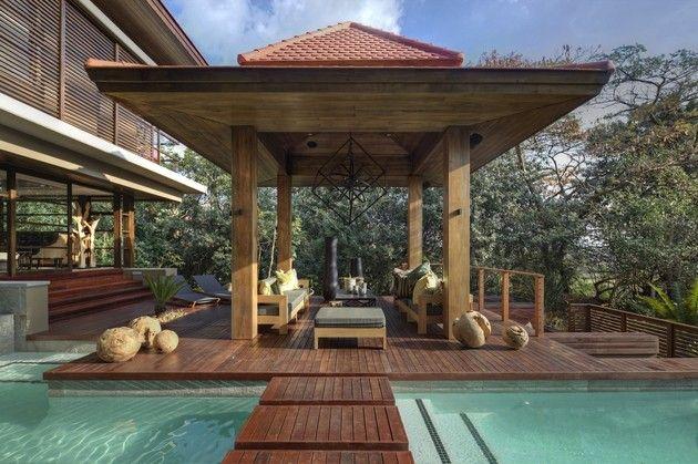 Inspiración zen para las casas de diseño oriental Caseta de madera