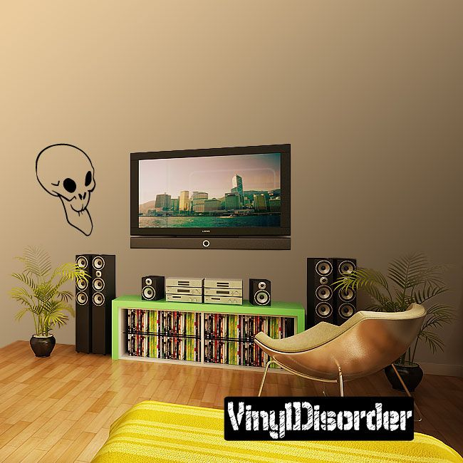 Skull Wall Decal - Vinyl Decal - Car Decal - CF157