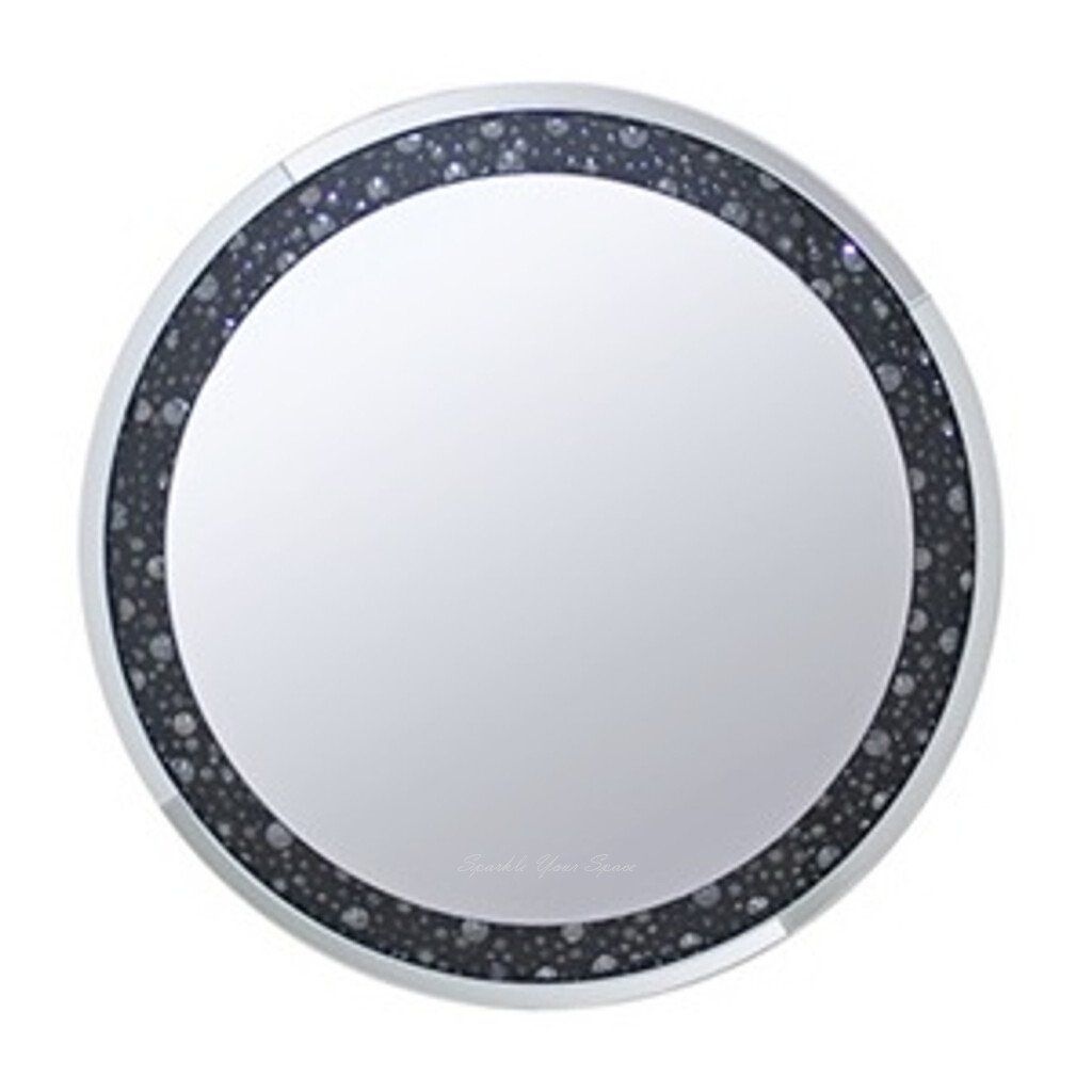 Diamond Crush Round Mirror