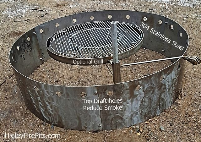 Stainless Steel Fire Pit Liner With Top Draft Holes Less Smoke We Can Make This Fire Pit 12 Or 14 De Metal Fire Pit Fire Pit Ring Stainless Steel Fire Pit
