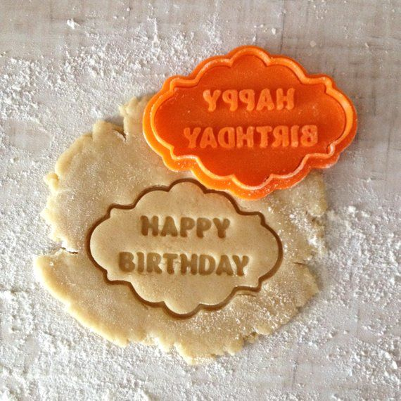 Happy Birthday Cookie Cutter Plaque Frame Fondant 003