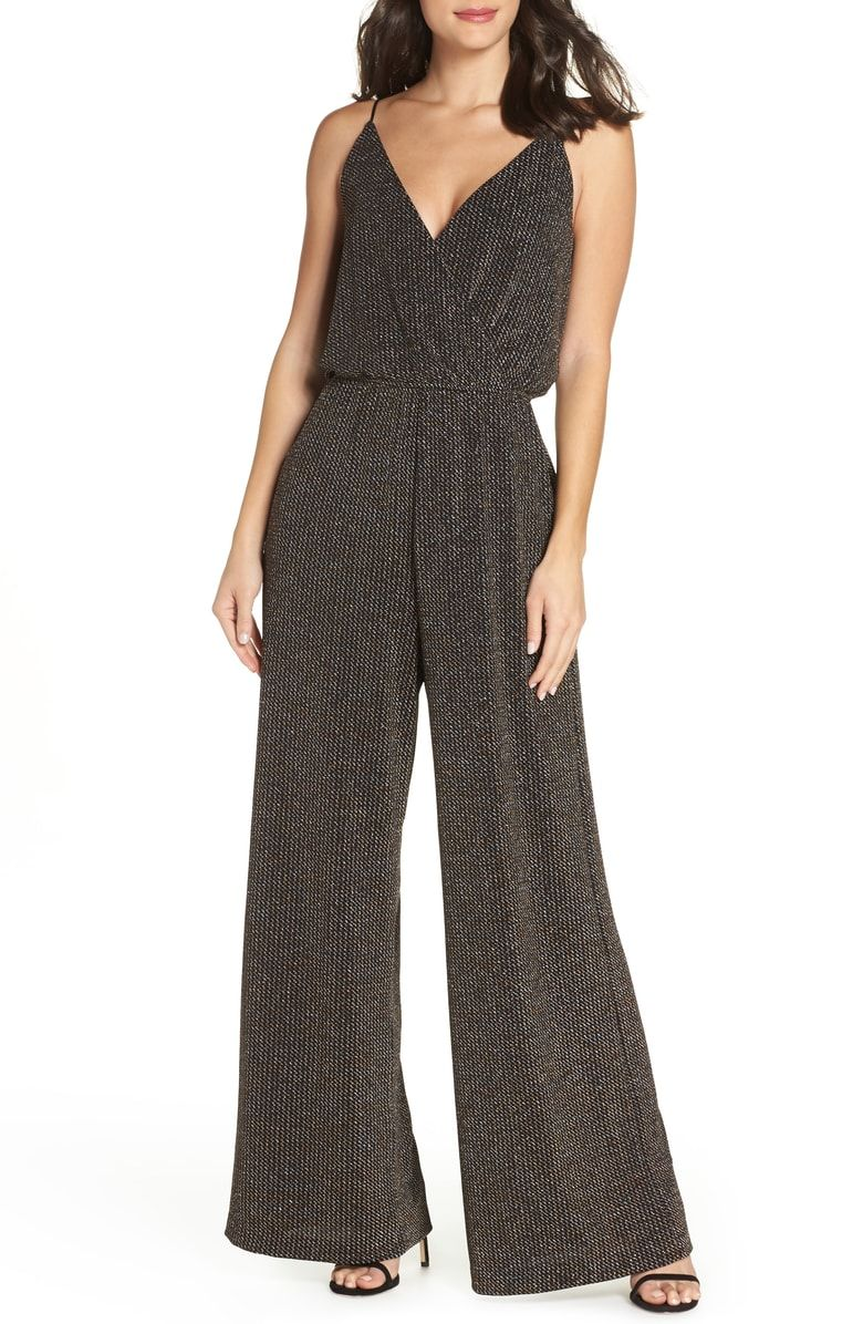 782966fd0328 Free shipping and returns on Chelsea28 Holiday Metallic Jumpsuit (Regular &  Petite) at Nordstrom.com. Effortless elegance for a season's worth of ...
