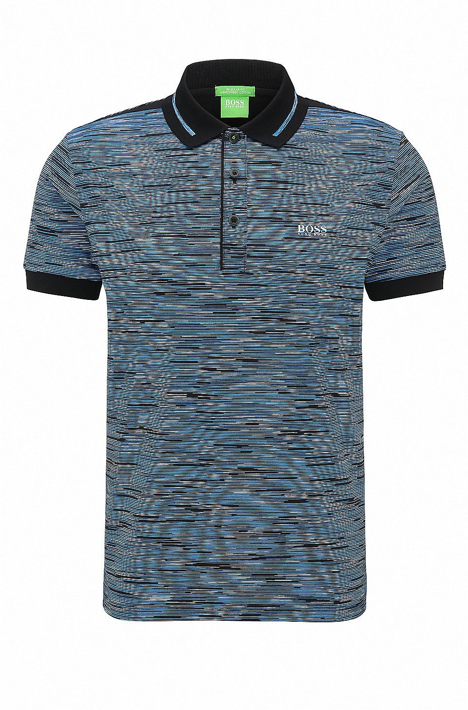 d666ad91 Regular-fit polo shirt in mercerised cotton Black from BOSS Green for Men  for £99.00 in the official HUGO BOSS Online Store free shipping