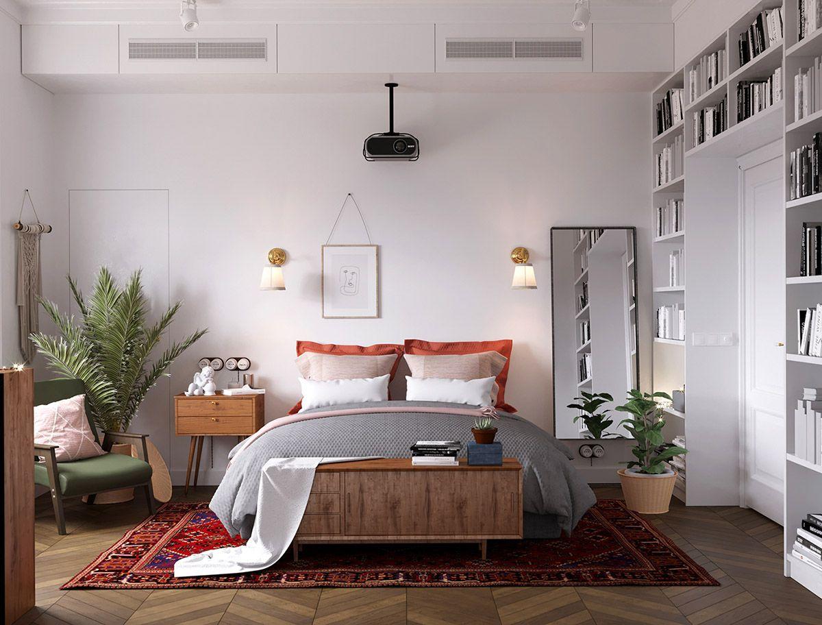 Earthy Eclectic Scandinavian Style Interior Bedroom Interior Eclectic Bedroom Scandinavian Design Bedroom