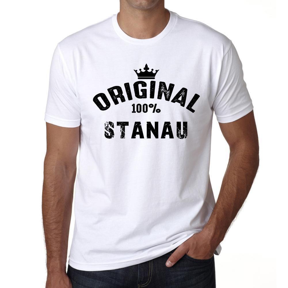 stanau, 100% German city white, Men's Short Sleeve Rounded Neck T-shirt