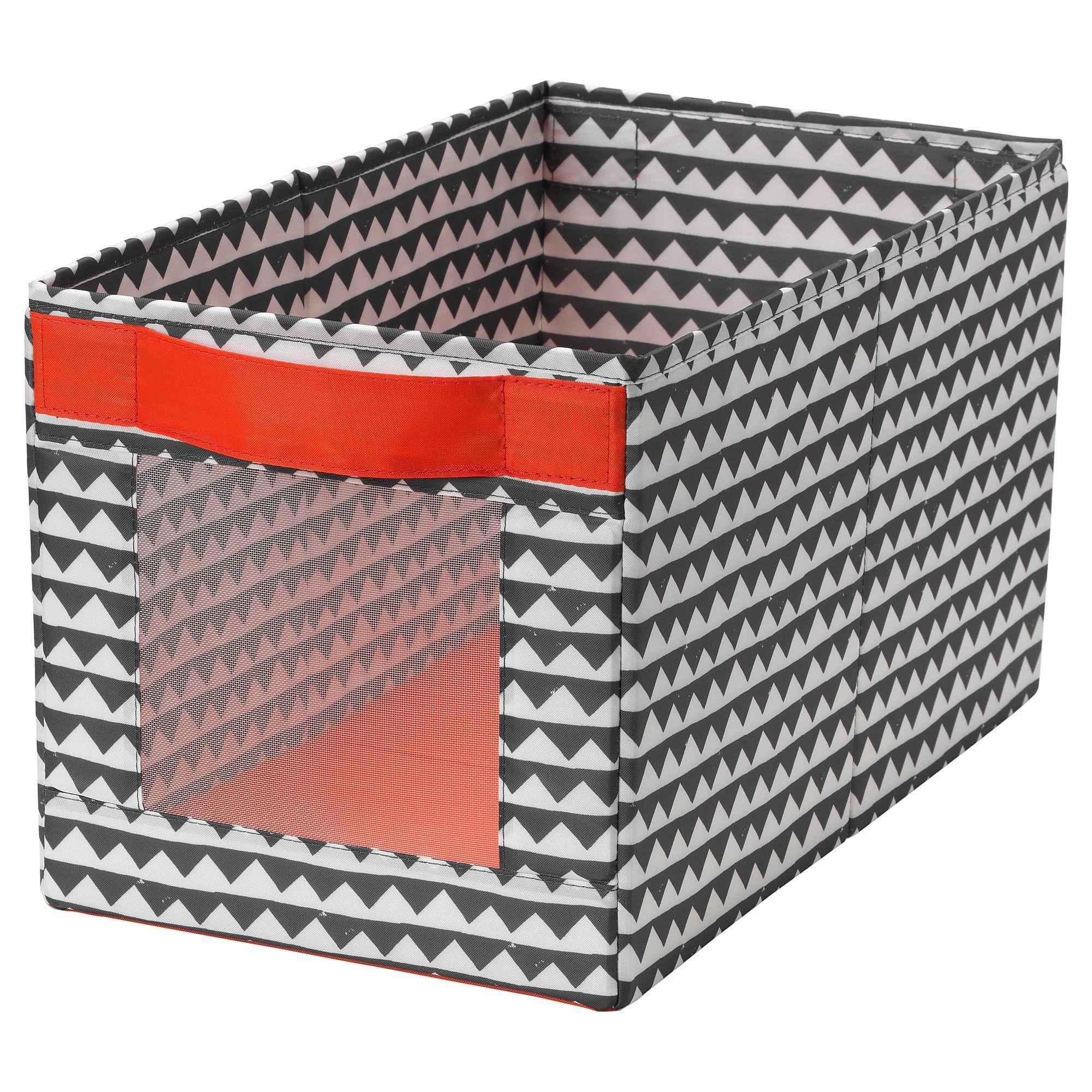 """ANGELÄGEN Box black, white 9 ¾x17 ¼x9 ¾ """" Ikea"""