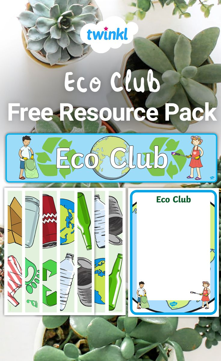 Free Eco Club Resource Pack. Eco club activities