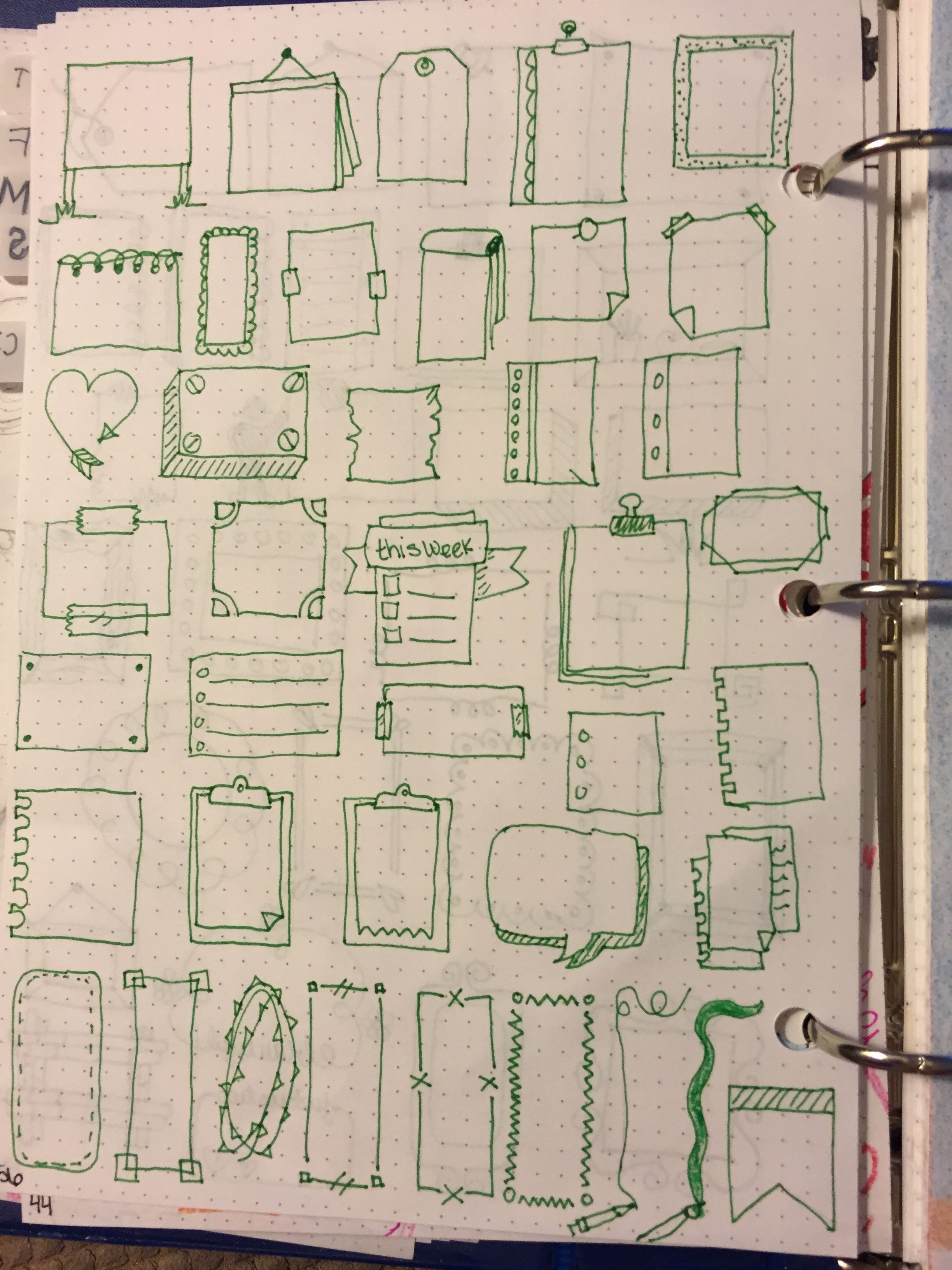 boxes, frames, borders etc bullet journal | BuJo Pages I\'ve Created ...