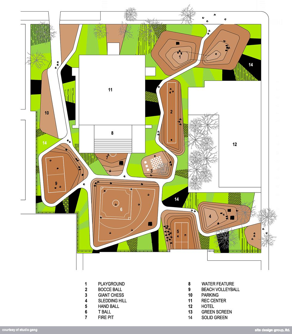 Chicago Playground Design Unity Green at Gill Park