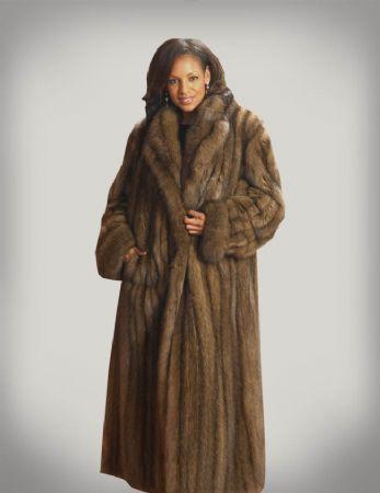 Henig Furs, Russian Sable Coat w/ Shawl Collar & Rollback Cuffs :: - $39,999.00