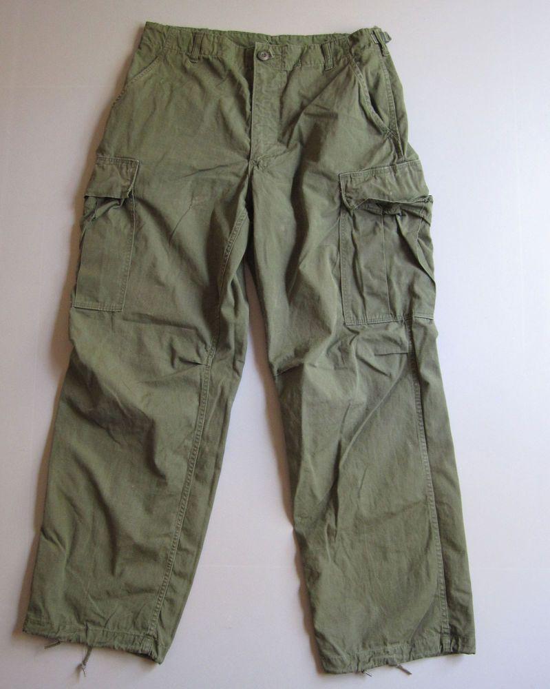 0692efb2523a1 Vtg 1969 Vietnam War Military Army Pants Trousers Cargo Jungle og107  Fatigue 60s