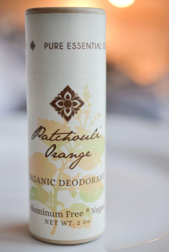 Patchouli Orange Organic Deodorant, Vegan, Made with Certified Organic Apricot Oil, Certified Organi #jojobaoil