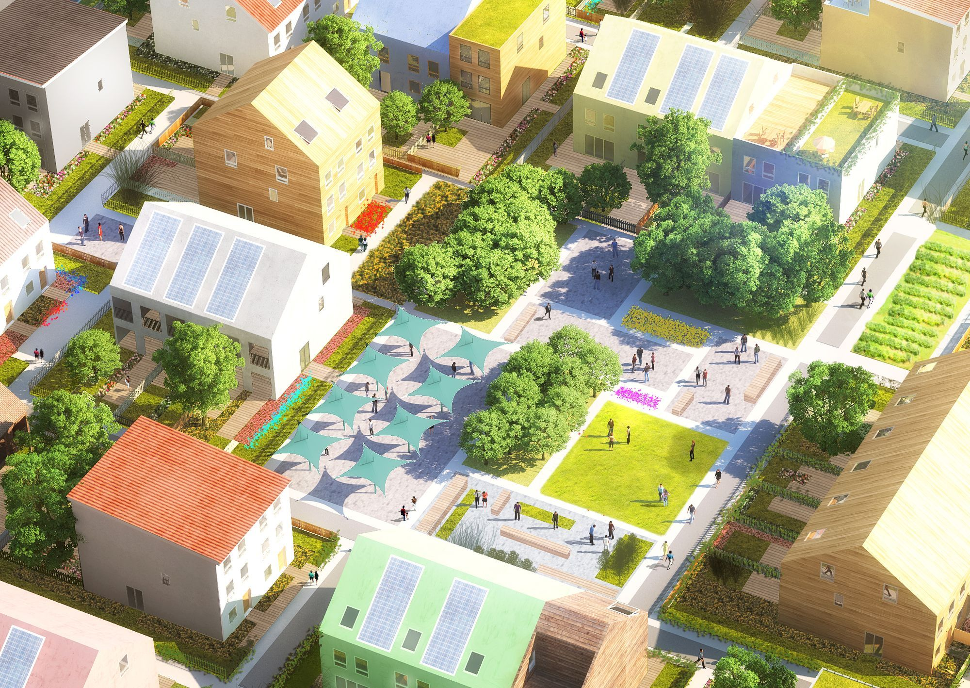 FBAB Future Sustainable Social Housing Residental Kolding Denmark Open petition 2014 1st prize Under construction Client Lejerbo
