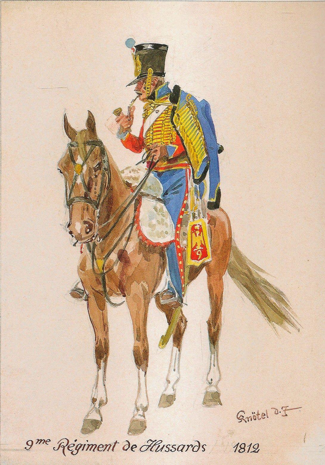 MINIATURAS MILITARES POR ALFONS CÀNOVAS: HUSSARDS, 9º REGIMIENTO FRANCES 1809-1813. ilustrado por Herbert KNÖTEL