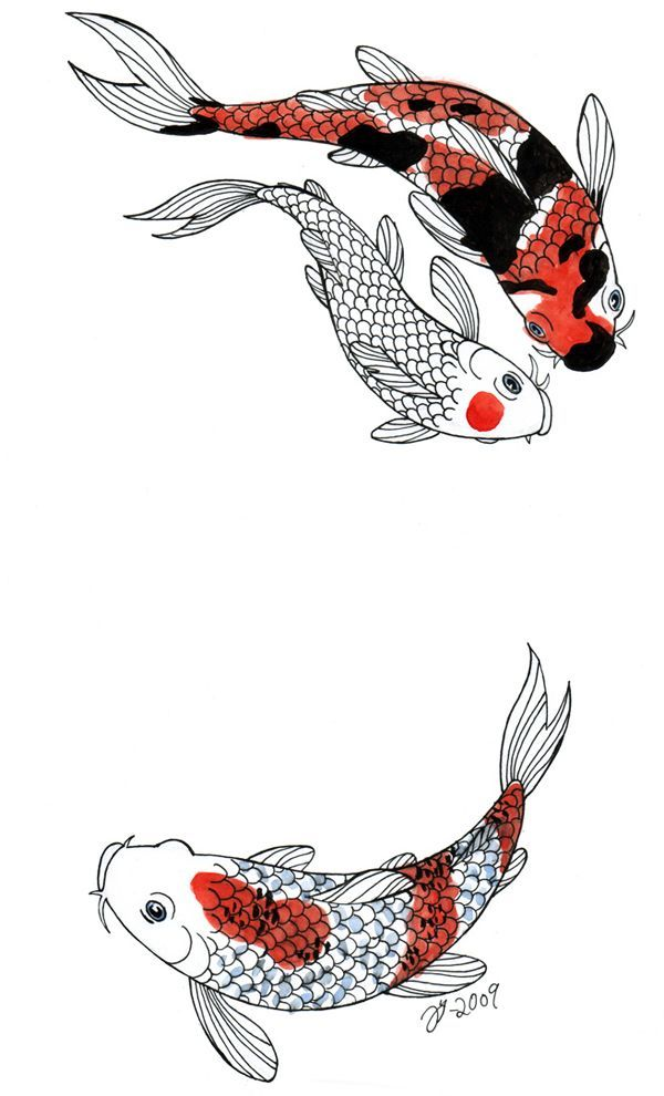 Swimming koi tattoo design tattoos that i love for Poisson koy