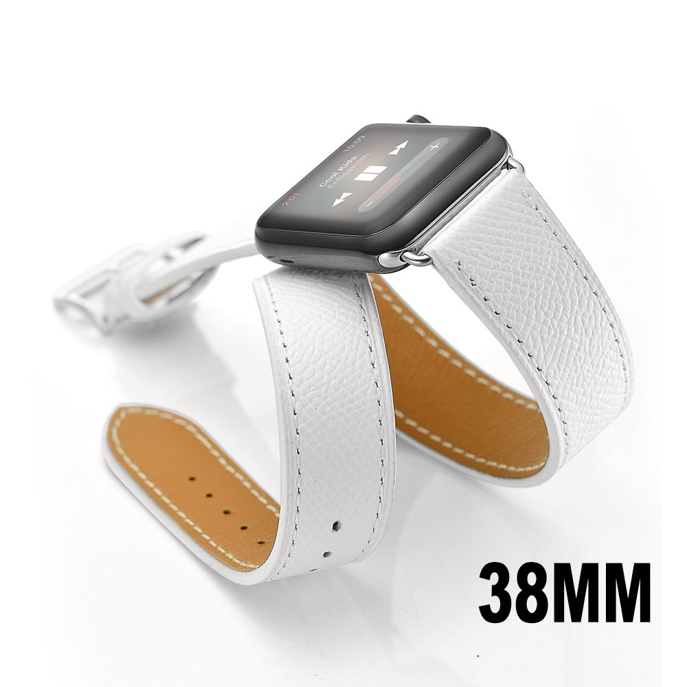 Apple watch band wapag double tour genuine leather sport