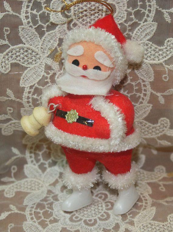 Vintage Santa Claus Christmas Tree Ornament by binguspingusart