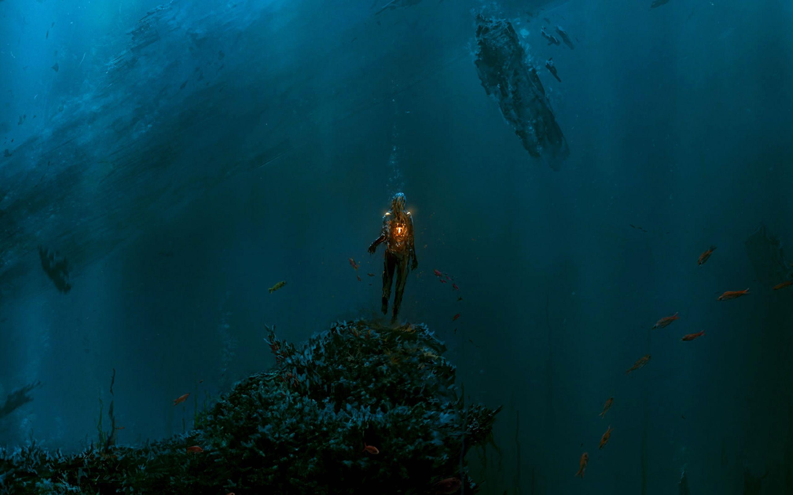 Ocean Abyss Wallpaper For Desktop 6918857 Ilustração
