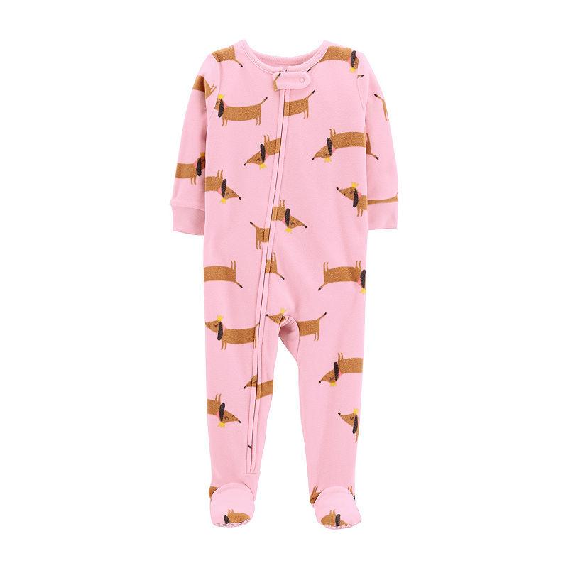 d86f2f89e Carter s Fleece One Piece Footed Sleep - Baby Girl