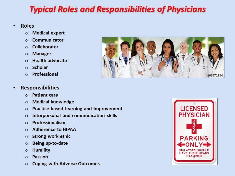 Doctors roles and responsibilities medical careers