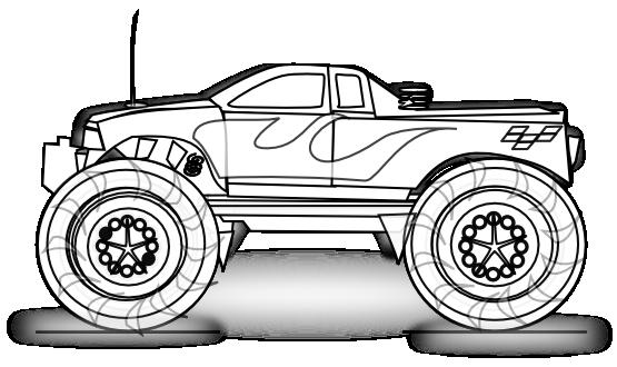 Monster Truck | coloring pages | Pinterest | Monster trucks