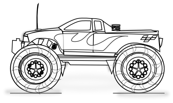 Free Clip Art Cars Coloring Pages Monster Truck Coloring Pages Truck Coloring Pages