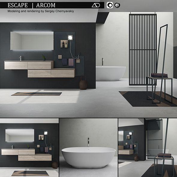 Bathroom furniture set Arcom Escape by 3duser800 Bathroom ...