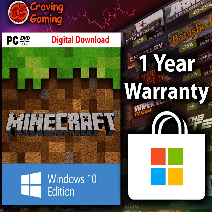 Minecraft Windows 10 Edition [License Key / Region Free ...