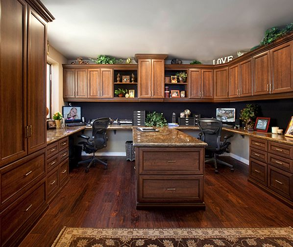 His and her office space one day house ideas - Home office ideas for her ...