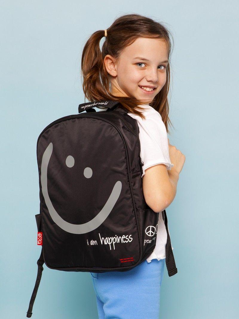 I Am Happiness Black Kids Backpack