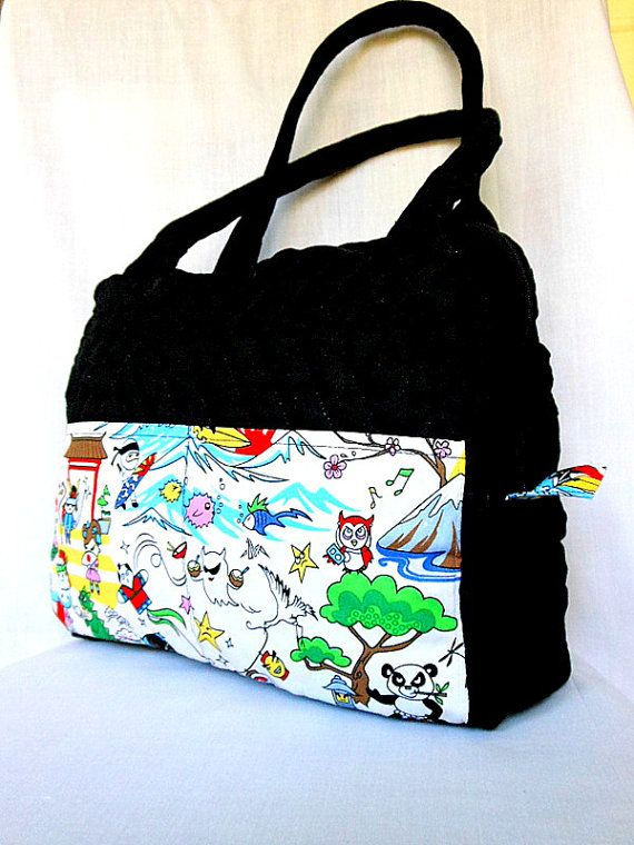 Quilted Bag Purse Handbag Tote Anese Anime By Kaeartworks