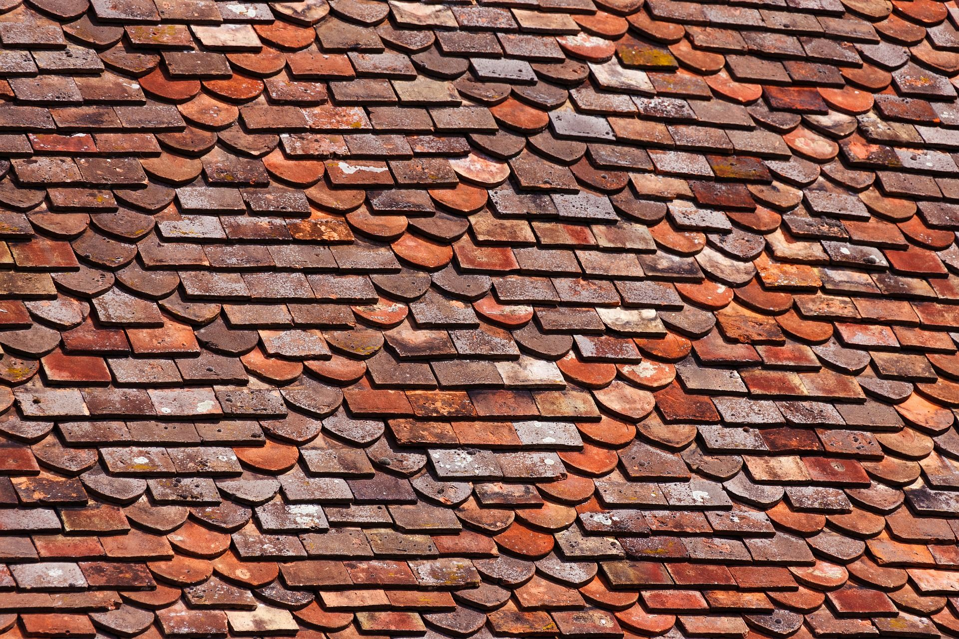 Roof Tiles Background Sixty Eight Photo Texture Building Ceramic Clay Construction Detail Exterior Home House Industry Material Plaque Sous Tuile Tuile Tuiles