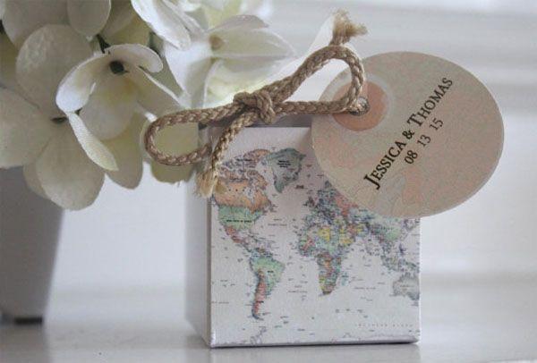 20 Idee Handmade Per Un Matrimonio A Tema Viaggi Wedding Wonderland Matrimoni A Tema Matrimoni A Tema Viaggio Regali Invitati Nozze