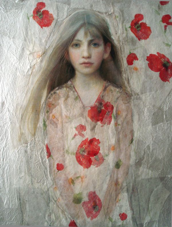 Ann Marshall: Olivia - Pastel and paper collage