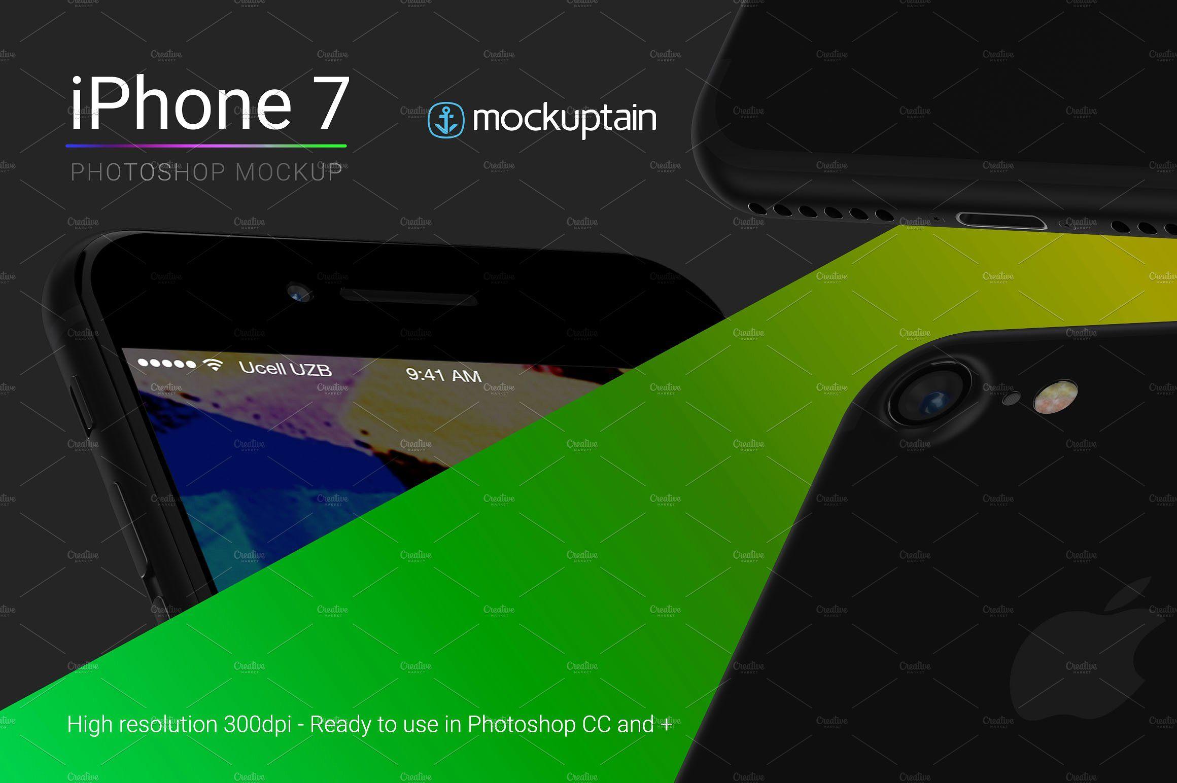 Iphone 7 Mockup Flying Black Iphone Mockup Personal Presentation Black Iphone 7