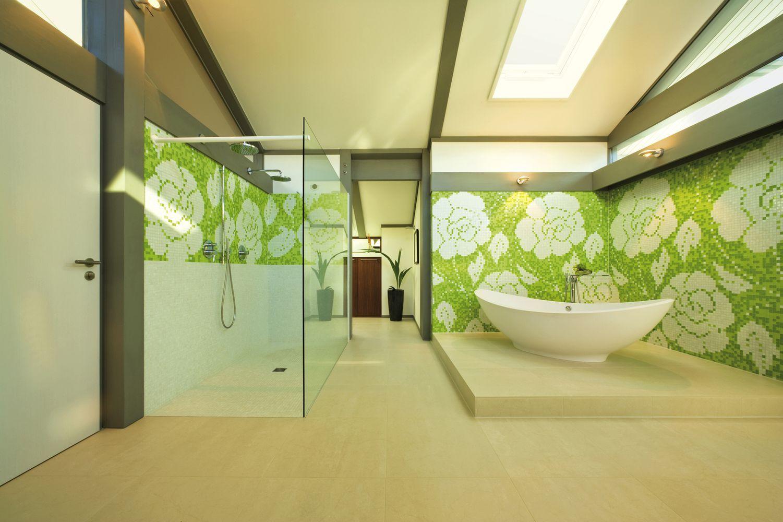 Badezimmer Fachwerk ~ Huf fachwerkhaus in fertigbauweise badezimmer mit badewanne huf