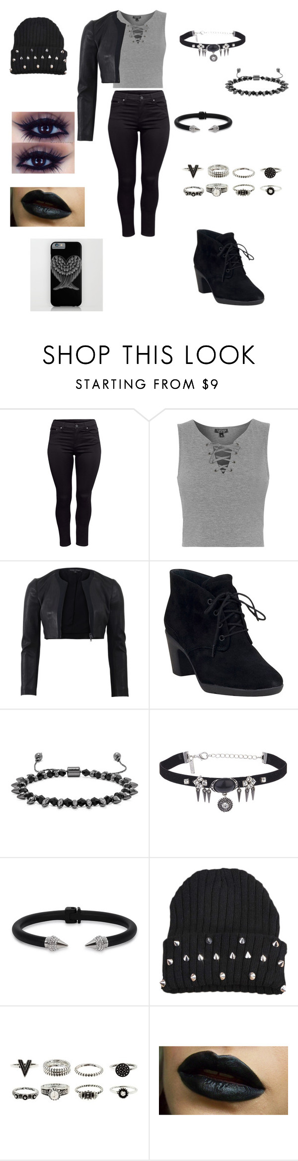 """""""Untitled #220"""" by kawaii2cute ❤ liked on Polyvore featuring H&M, Topshop, Narciso Rodriguez, Clarks, BaubleBar and Vita Fede"""