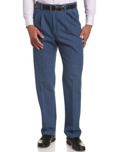 Haggar Men S Work To Weekend No Iron Denim Pleat Front Pant Spring Trends Outfits Men S Spring Outfit Mens Clothing Styles