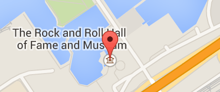 Map of rock and roll hall of fame
