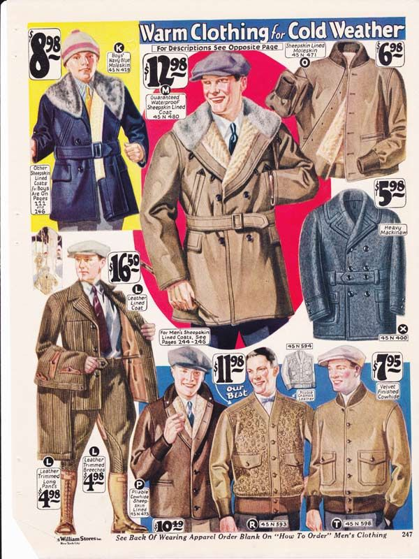 1920s Mens Coats & Jackets History | Mens winter coat