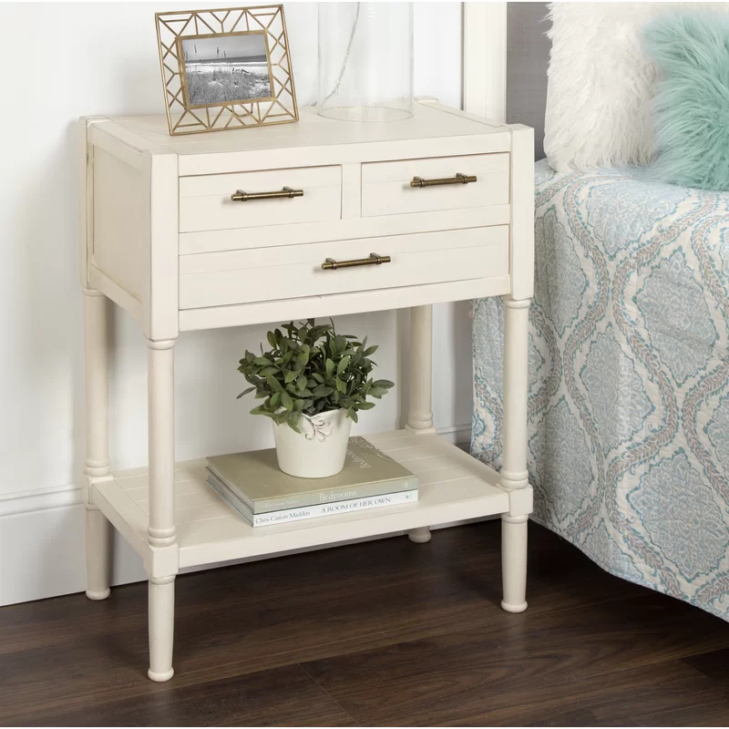 Caspian Nightstand 3 Drawer End Table In 2020 End Tables