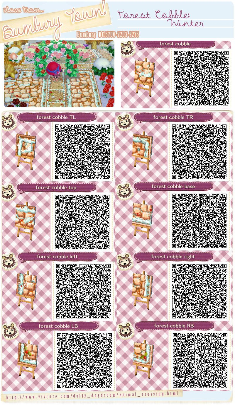 Forest Cobbie Winter Animal Crossing Qr Codes Animal Crossing
