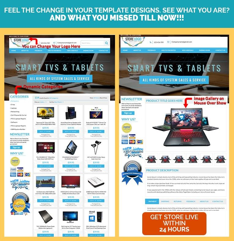 eBay Store  eBay Listing Design Templates in Elegant Sky Blue Theme