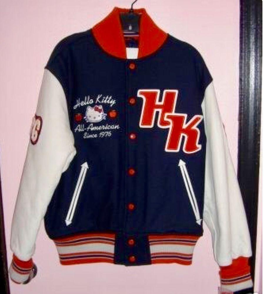 482a91ed4 Hello Kitty Sanrio RARE Varsity Letterman Jacket | Hello Kitty ...