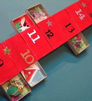 The matchbook vertical matchbox advent calendar for Homemade christmas advent calendar ideas